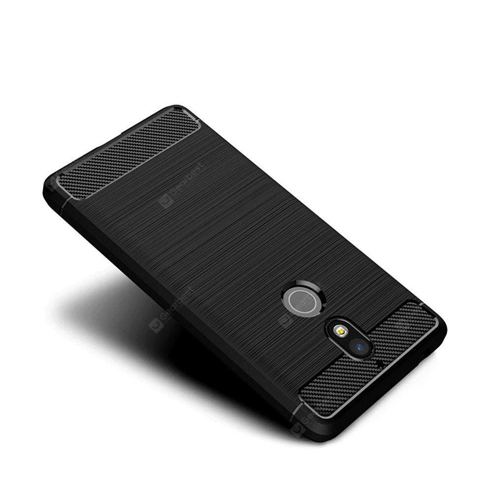 Shockproof Carbon Fiber TPU Drawing Material Phone for Nokia 7 Cover Case
