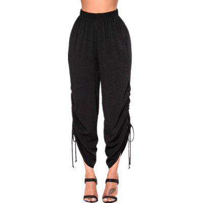 Hot Style Easy To Be Thin 9 Pants Side Hang Rope Casual Pantaloni svasati