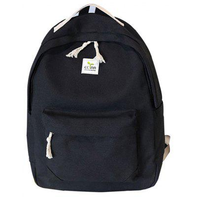 Frauen Rucksack Frischen Stil Preppy All Match Canvas Bag