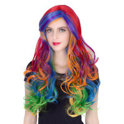 Colorful ladies curly  long hair