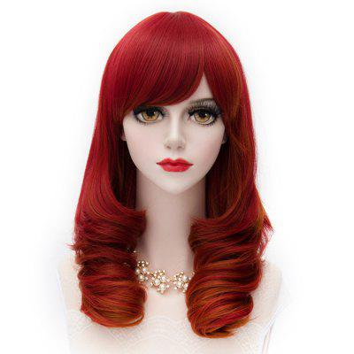 Man Mei Cosplay COS Wigs Airy Curl Hair Red