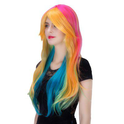 bright wig long hair straight hair hairdressing tool