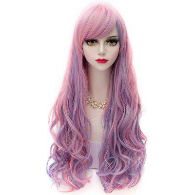 Man Mei  Cosplay COS Wigs Airy Curl Hair Blue to Pink