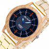ZhouLianFa New Trend of Sports Gold Band Quartz Watch - GOLDEN