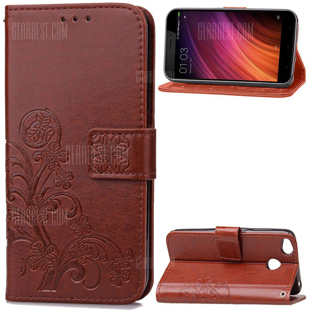 Embossing Card Slot Wallet Cover Case for Xiaomi Redmi 4X