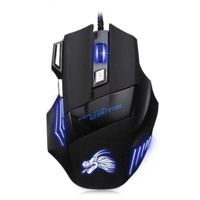 Buy BLACK USB Wired Optical Gaming Mouse Backlit Game Mice for $4.48 in GearBest store