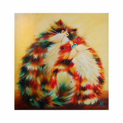 Naiyue 7131 Colorful Persian Cat Print Draw Diamond Drawing