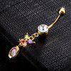 Personality Butterfly Zircon Navel Ring P0224 - ROSA