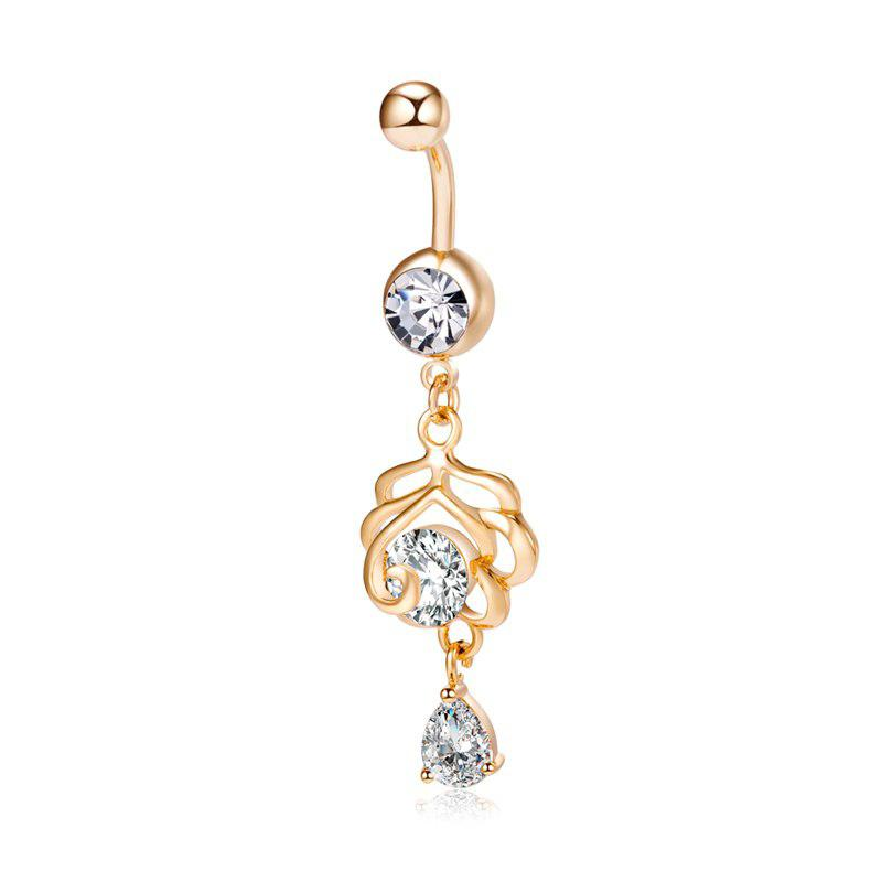 Anello Petal Zircon Navel Fashion P0235