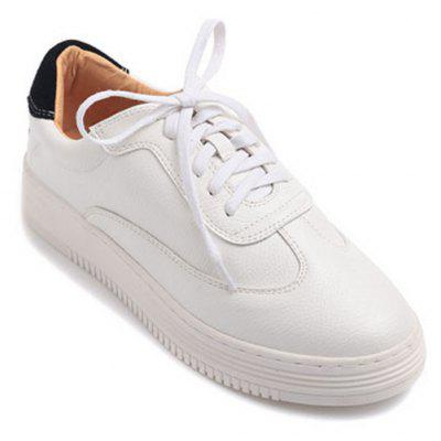 Women \ 'S Real Leather Chaussures de sport blanches