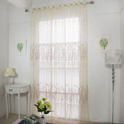 Semi transparent window curtain