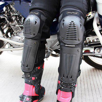 Buy Riding Tribe Motorcycle Riding Knee Pads Motocross Racing Protective Gears Hands and Leg Guards BLACK for $16.71 in GearBest store