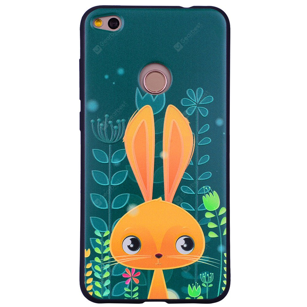 Adorable Rabbit Phone Case per Huawei P9 Lite 2017 Fashion Cartoon Rilievo in Silicone Morbido TPU Custodie Protettive