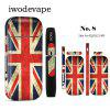 Auth Iwodevpae E-Cig Accessories IQOS Stickers Fashion Protection Stickers - RED