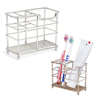 ORZ Stainless Steel Toothbrush Holder Toothpaste Razor Comb Stand Bathroom Organizer