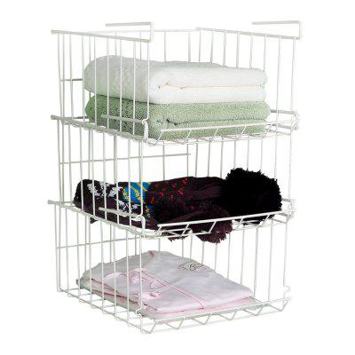 ORZ 3PCS Cabinet Storage Rack Under Hanging Rack Cupboard Qrganizer Storage Shelves Superposed Storage Shelf