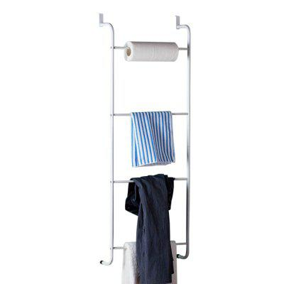 ORZ 4 Layer Towel Racks White Over Door 4 Bars Clothes Hanging Shelves Bathroom Room Storage Holder