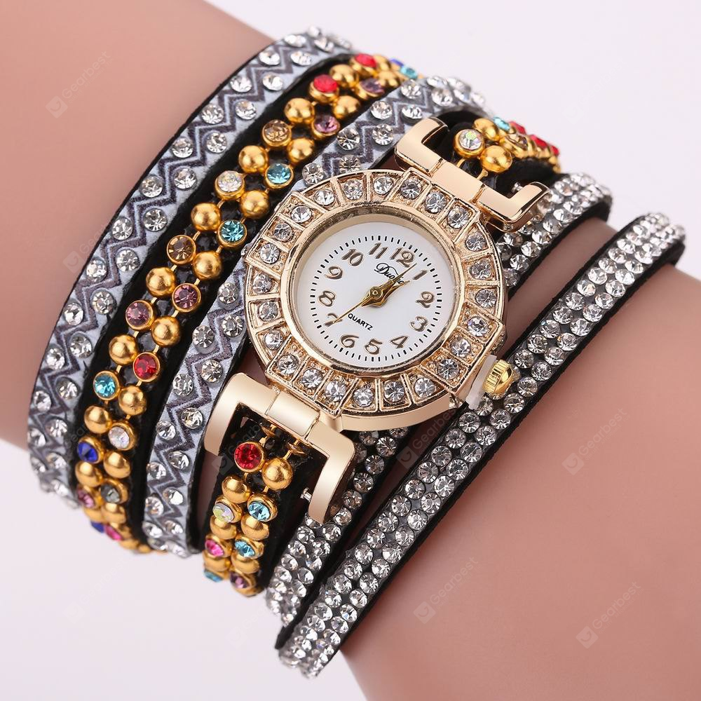 DUOYA D188 Women Analog Quartz Wrist Watch Wrap Around Style