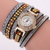 DUOYA D188 Women Analog Quartz Wrist Watch Wrap Around Style - BLACK