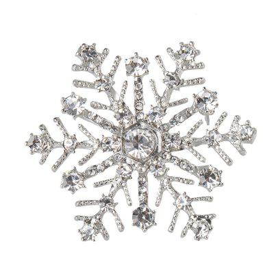 Snowflake Charms Pendants Pins Christmas Brooch Women Brooches Pins Decoration Xmas Merry Xmas Gifts
