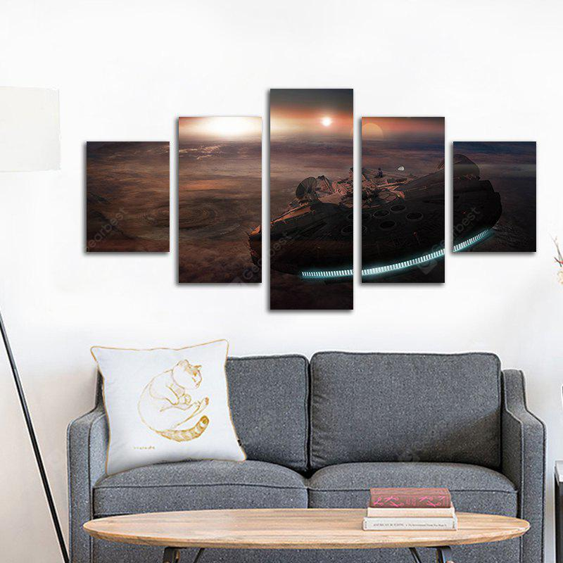 Moderne Leinwand Kunstdrucke Unframed Home Office Wall Decal 5pcs