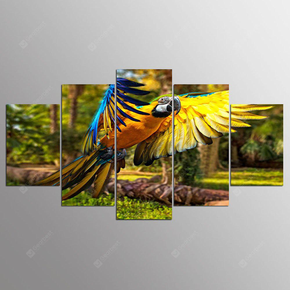 Ali stampate Derevya Popugay Polet Parrot Wings Canvas Print Room Decor