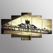 YSDAFEN 5 Panel Hd Anfield Stadium Canvas Print for Living Room