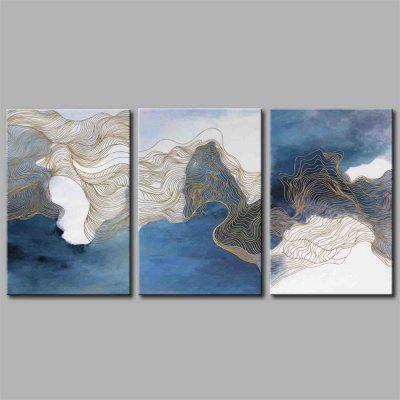 Hua Tuo Abstract Style Stretched Frame pronto ad appendere dimensioni 50 x 70 cm A1730