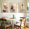 Special Design Frameless Paintings Dragonflies and shells Print 3PCS - WHITE