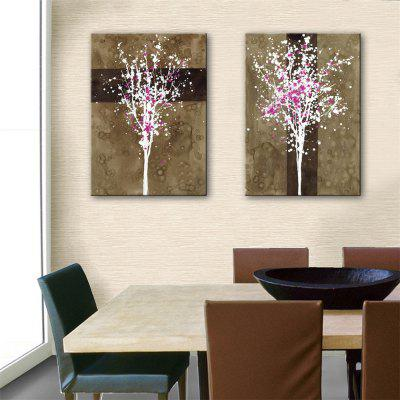 Special Design Frameless Paintings Gear Print 2PCS