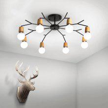 Ever-Flower 8 Lights Retro Industrial Pendant Lamps Ceiling Light for Living Room Bedroom Clothing Store