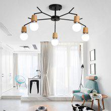 Ever-Flower 5 Lights Retro Industrial Pendant Lamps Ceiling Light for Living Room Bedroom Clothing Store