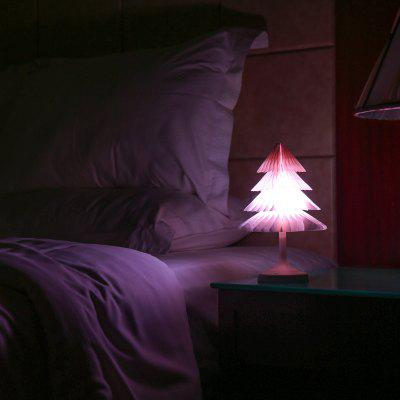 JUEJA Christmas Tree Desk Lamp USB Colorful LED Touch Control Night Light Xmas New Year Gift