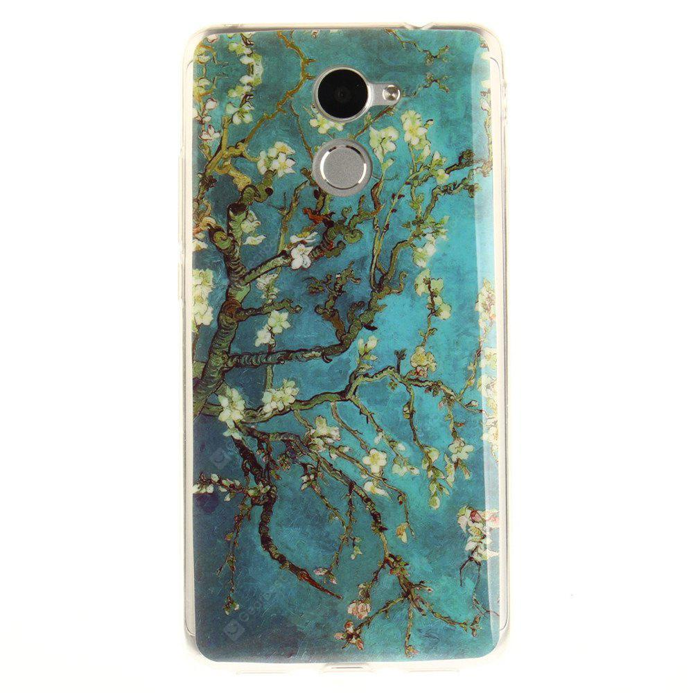 Apricot Blossom Tree Soft Clear IMD TPU Phone Casing Mobile Smartphone Cover Shell Case para Huawei Y7 Prime Enjoy 7 Plus