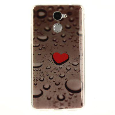 Heart Drop Soft Clear IMD TPU Casaco para celular Smartphone Cover Capa Shell para Huawei Y7 Prime Enjoy 7 Plus