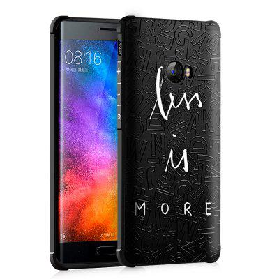 Alphabet Graffiti Ontwerp Ultra Slim TPU Shockproof Black Silicone Soft Case voor Xiaomi Mi Note 2