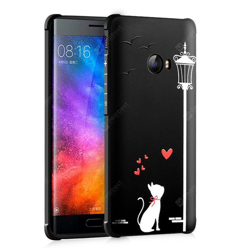 Love Cat Design Ultra Slim TPU Shockproof Black Silicone Soft Back Case for Xiaomi Mi Note 2 - $4.14 Free Shipping|GearBest.com