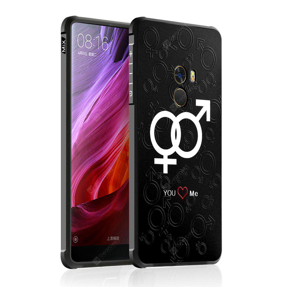 Custodia morbida posteriore in silicone TPU antiurto per Love Chain Design per Xiaomi Mi Mix