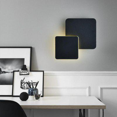 Modern Style 360 Degree Can Adjust The Wall Lamp Black Metal  for Living Dining Room Bedrooms