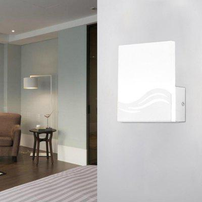 Modern Style Wall Lamp White Aluminum Indoor for Bedside Lamp Pathway Dining  Bedroom Living  Room