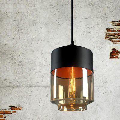 Loft Vintage Industrial Amber Glass Pendant Lamp Fixtures Antique Retro Edison Candy Jar for Living kids Dining Room