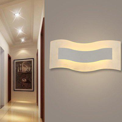 Fashion Modern LED Wall Lamp White Acrylic Home Sconce Light for Hallway Bedroom Living Bedside Lights
