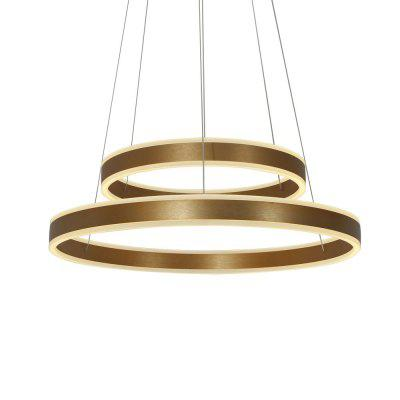 Lazada Modern Led Pendant Light 2 Rings Gold Hanging Lamp for Dinning Living Room