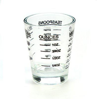 Small Measure Multi-Purpose Liquid and Dry Measuring Shot Glass Heavy Glass Wine Measuring Cups