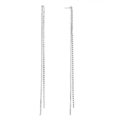 Long glands boucles d'oreilles strass simples