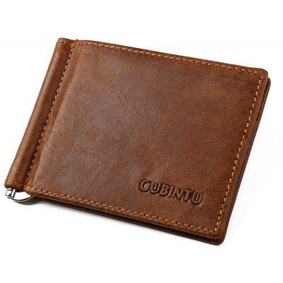 Vintage Casual Business Genuine Leather Purse Men Wallet Money Clip Card Holder