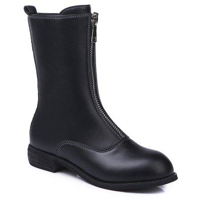 Martin New Winter Boots Female Warm Plus Velvet All-Match Front Zipper in Boots with Thick