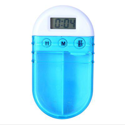 Electronic timing reminding double case medicine box