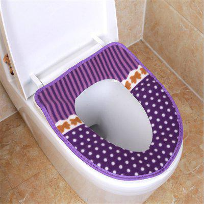 Corduroy toilet cushion in winter