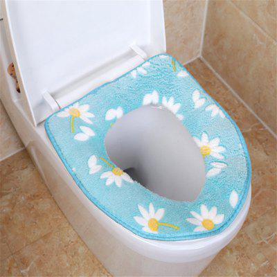 A toilet seat cushion and a toilet cushion in winter